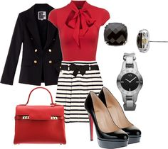 red black and white - Polyvore