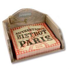 """Décoration de table - Support serviettes """"Bistrit de Paris"""""""