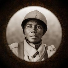 Portraits of French Senegalese soldiers during the War.