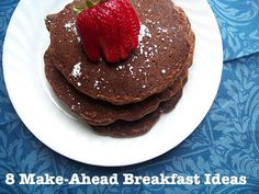 These breakfasts can be made before the morning and some can even be frozen including buritos, chocolate waffles,pancakes, muffins - I just love the idea of being ready in advance - makes the mornings more bearable and I think especially for working moms who are always running early in the morning but want to give their children a healthy breakfast.