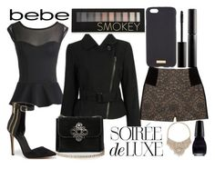 """""""Soirée de Luxe with bebe Holiday: Contest Entry"""" by j-n-a ❤ liked on Polyvore featuring Forever 21, Bebe, Henri Bendel and Surratt"""