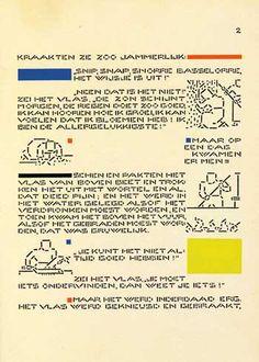 Quand Bart van der Leck applique le langage pictural de Mondrian et ses amis pour illustrer Andersen... Histoire des métamorphoses d'un conte «Le lin»  Hans Christian Andersen (1805-1875)  - Bart van der Leck (1876-1958),  Het vlas, Amsterdam, Dee Spieghel, s. d. (1941). In-8, 20 pages, couverture illustrée.