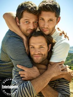 Entertainment Weekly Releases New Photos with 'Supernatural' Stars Jared Padalecki, Jensen Ackles, and Misha Collins – Nerds and Beyond Supernatural Fans, Supernatural Pictures, Supernatural Wallpaper, Castiel, Entertainment Weekly, Jensen And Misha, Jensen Ackles Jared Padalecki, Jensen Ackles Family, Jared Padalecki Supernatural