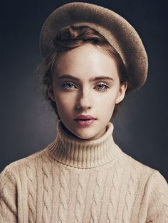 beret and french makeup