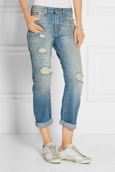Blue stretch-denim Button and concealed zip fastening at front 98% cotton,  2. Stretch DenimBoyfriend JeansCatherine ...