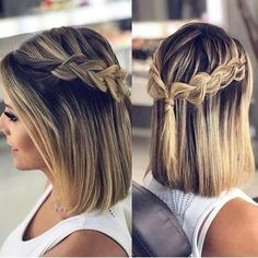 Peinados de trenzas para cabellos semi cortos