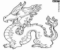 Omalovánka Čínský drak