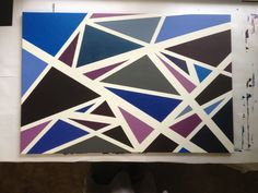 Diy art. Canvas and painters tape