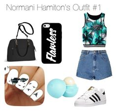 """""""N. Hamiton outfit"""" by arianagrande1962 on Polyvore featuring Glamorous, adidas, Avenue and River Island"""