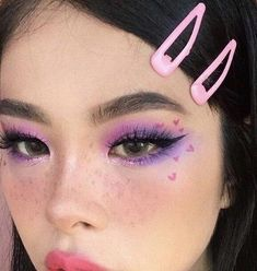 The Effective Pictures We Offer You About Creative Makeup step by step A quality pi Cute Makeup Looks, Makeup Eye Looks, Soft Makeup, Pretty Makeup, Crazy Eye Makeup, Edgy Makeup, Grunge Makeup, Eye Makeup Art, Purple Makeup