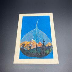 Pack of 2 Handmade Screen Printed Christmas Trees and Snowflakes Lokta Paper Sheets