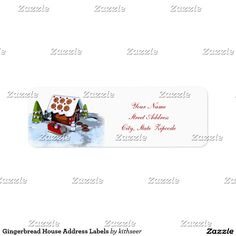 Shop Gingerbread House Address Labels created by kithseer.