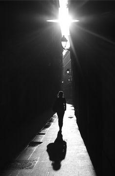 "Photo by Pau Rigol. ""A woman walks in Barcelona's Gothic neighbourhood."""