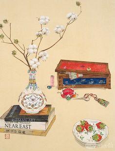 Korean Painting, Chinese Painting, Japanese Drawings, Japanese Art, Painting & Drawing, Watercolor Paintings, Asian Artwork, Geisha Art, Korean Art