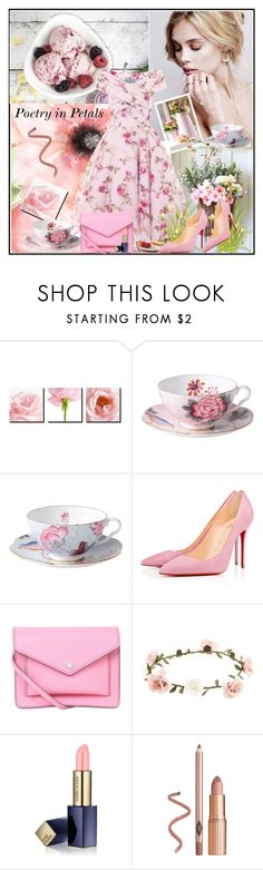 """""""Poetry in Petals !"""" by fantasy-rose ❤ liked on Polyvore featuring Wedgwood, Christian Louboutin, Marc by Marc Jacobs, Accessorize, Estée Lauder, vintage, Pink, VintageInspired, marcjacobs and christianlouboutin"""