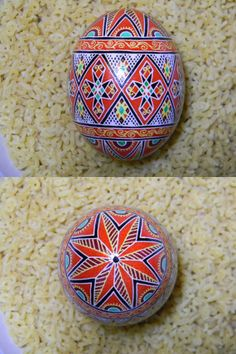 Barylka Design in Red Ukrainian Egg - Psyanky