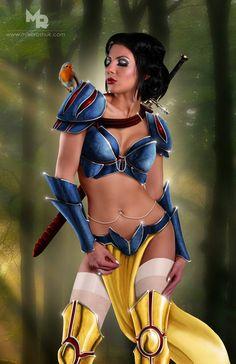 Snow White by ~kuhsor on deviantART  Because Disney princesses weren't bad enough...