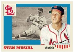 "2016 Topps Now #TBT Week #4 Card # 21 Throwback Thursday Stan ""The Man"" Musial #StLouisCardinals"