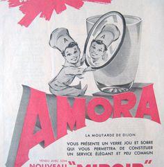 Original french vintage advert for Amora's Dijon par someoldnews, $6,50