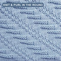 Knitting Stitches That Look The Same On Both Sides : [Knit and Purl in the round] Pennant Pleating - Reversible pattern looks iden...