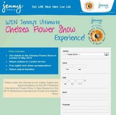Win Tickets To Jennys Ultimate Chelsea Flower Show Win Tickets, Rock Concert, Chelsea Flower Show