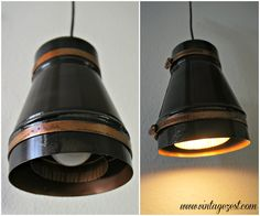 DIY Industrial Pendant Light using ductwork pieces!