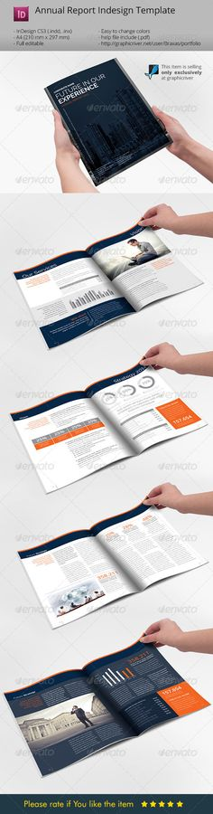 Annual Report Indesign Template - Informational Brochures