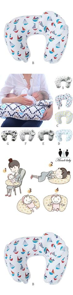 New 2 PCS Breastfeeding pillow Baby Breast Pillow Pregnant Mother Maternal Breast Pillow U-Type Multi-Functional Baby Feeding Pillow (B)