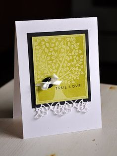 Maile Belles embosses clear to give a wonderful depth on this lovely card
