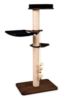 Freistehender Kratzbaum mit Grundplatte GP1 und dem aufregend neuen Spielzeug-Halter von Profeline.  Kratzbaum Elisa überzeugt durch klare Linienführung und bietet alles was sich Ihre Katze wünscht - Kratzen, kuschelige...