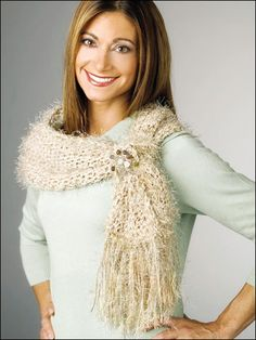 Crochet - Accessories - Crochet Shrugs, Wraps & Shawls Patterns - Shimmery Shoulder Shrug - #FC00935