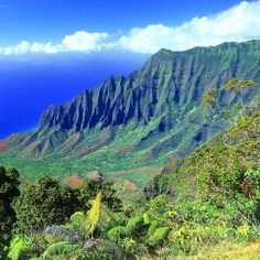 Kalalau Valley, Kauai, Hawaii. We hiked this valley to a remote waterfall. Absolutely beautiful.