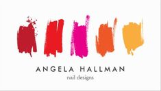 Contemporary Nail Polish Paint Swatches Simple Nail Designs Business Cards http://www.zazzle.com/paint_swatches_red_orange_business_card-240697521102486097?rf=238835258815790439&tc=GBCManicurist1Pin