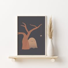 Halloween Wall Decor, Halloween Poster, Halloween Prints, Halloween Decorations, Halloween Entryway, Modern Halloween, Canvas Art Prints, Artwork Prints, Chalkboard Art