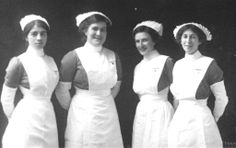 British nursing | Pol Adams is 3rd from left in the photo below - taken before WW1.