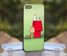 Cute Snoopy , Print on Hard Cover iPhone 5 Black Case   MonggoDiTumbas - Accessories on ArtFire