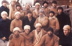 """Return of the """"Discovery"""" expedition from Antartica in 1931 (the Heroic Age of Antarctic Exploration).  *Those who did not get the memo about camel and navy were excluded from the group portrait, and consequently, the annuls of history."""