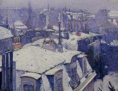 """""""Vues de toits, effets de neige"""" by Gustave Caillebotte, 1878"""