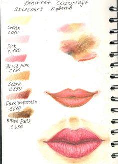 "Derwent  Набор карандашей ""Coloursoft Skintones"""