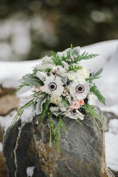 A Colorado Winter Elopement for Ashley and Lee - Blue Sky Elopements Wildflower Bridal Bouquets, Wedding Flowers, My Flower, Flower Crown, Elope Wedding, Wedding Day, Colorado Winter, Anniversary Dates, Intimate Weddings