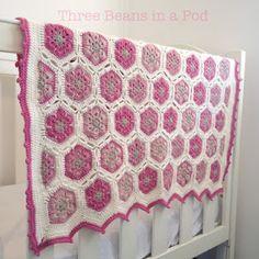 African flower motif - soft, pretty pinks    From threebeansinapodcrochet.blogspot.com.au
