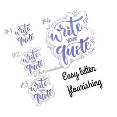 Embellishimg a quote.