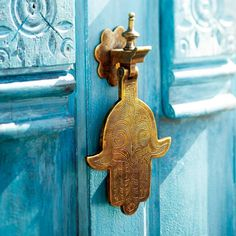 Chefchaouen Hamsa door knocker.                                                                                                                                                                                 More