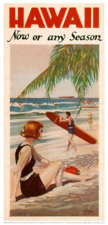 Hawaii | Surf Art Posters