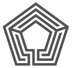 in pentagonal shape