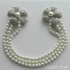 Pearl & Diamante hair drape by Ceilidh Craft…