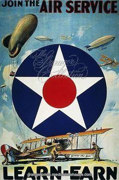 WORLD WAR I: AIR SERVICE. 'Join the Air Service, Learn-Earn