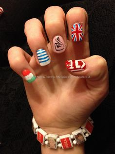 One Direction nail design