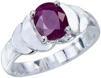 #Jewelry Shimmering Mens Natural Rare African Red Ruby Gemstone 1.42ct 18K White Gold Wedding Engagement Statement Ring
