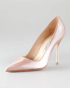 BB Liquid Patent Leather Pump by Manolo Blahnik at Neiman Marcus.